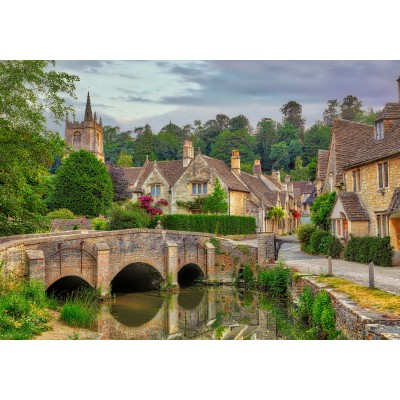 grafika-Puzzle - 1000 pieces - Castle Combe, Cotswolds