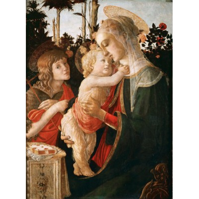 grafika-Puzzle - 2000 pieces - Sandro Botticelli: Virgin and Child with Young St John the Baptist, 1470-1475