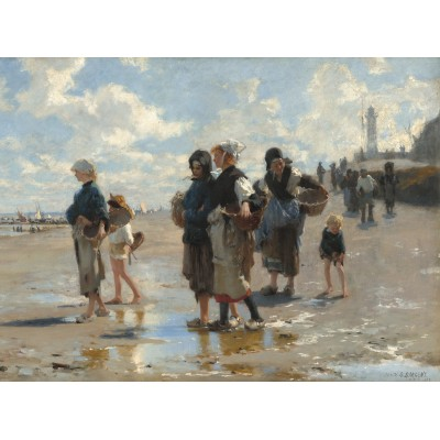 grafika-Puzzle - 2000 pieces - John Singer Sargent: Setting Out to Fish, 1878