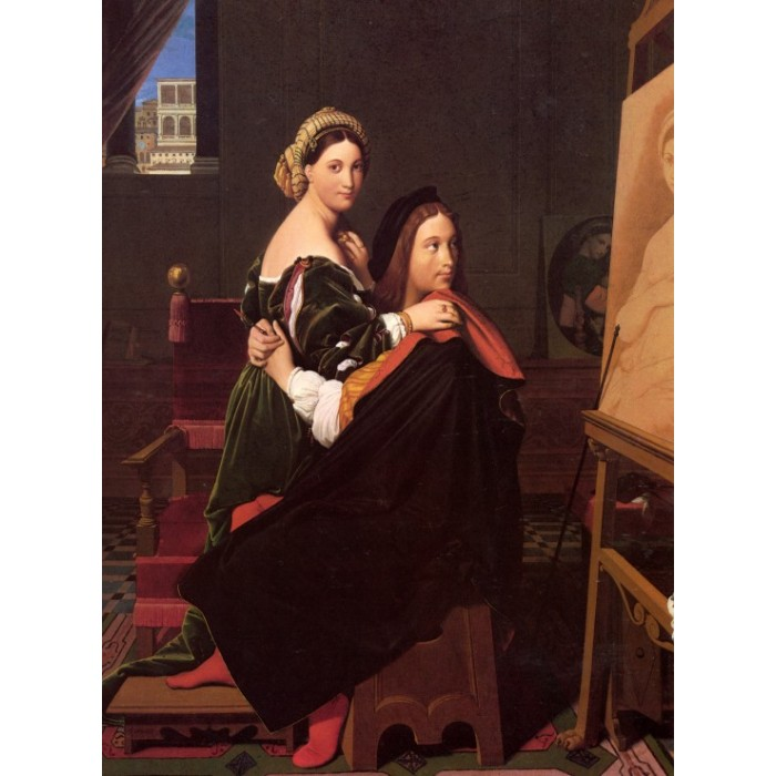 Puzzle Grafika-F-30635 Jean-Auguste-Dominique Ingres: Raphaël and the Fornarina, 181