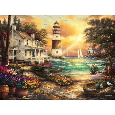 grafika-Puzzle - 2000 pieces - Chuck Pinson - Cottage by the Sea