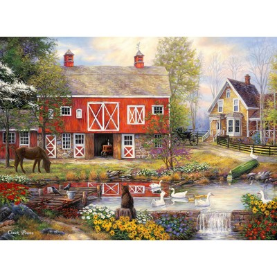 grafika-Puzzle - 2000 pieces - Chuck Pinson - Reflections On Country Living