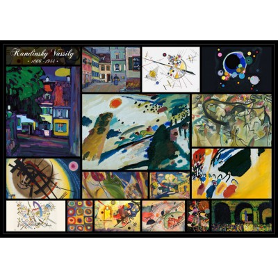 grafika-Puzzle - 1000 pieces - Kandinsky Vassily - Collage