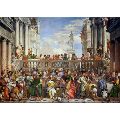 Puzzle  Grafika-T-00074 Paolo Veronese: The Wedding at Cana, 1563