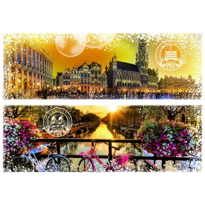 Puzzle  Grafika-T-00231 Travel around the World - Belgique et Pays-Bas
