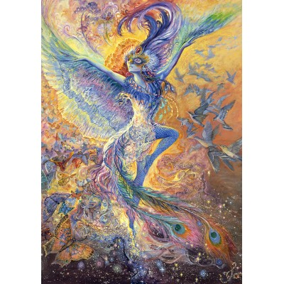 Puzzle  Grafika-T-00270 Josephine Wall - Blue Bird