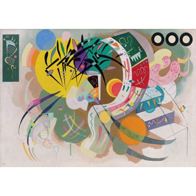 grafika-Puzzle - 1500 pieces - Wassily Kandinsky - Dominant Curve, 1936