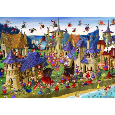 grafika-Puzzle - 1000 pieces - François Ruyer - Witches