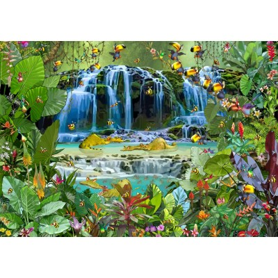 grafika-Puzzle - 1500 pieces - François Ruyer - Waterfall