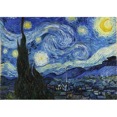 grafika-Puzzle - 2000 pieces - Vincent Van Gogh - The Starry Night, 1889