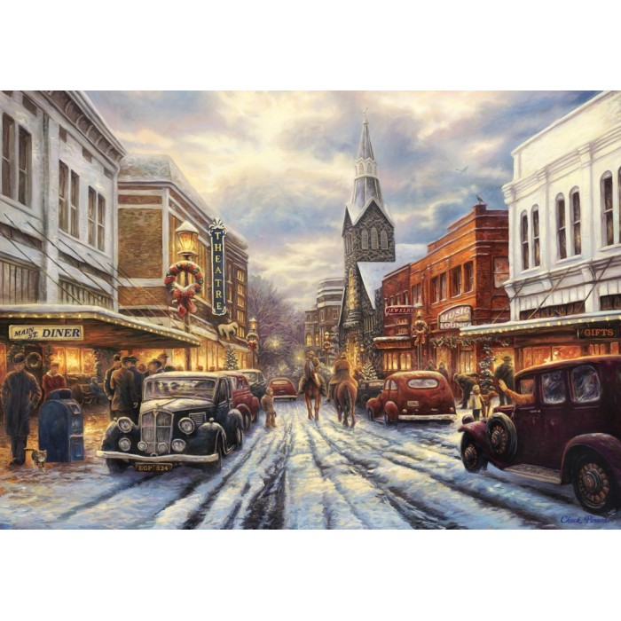 Puzzle Grafika-T-00807 Chuck Pinson - The Warmth of Small Town Living