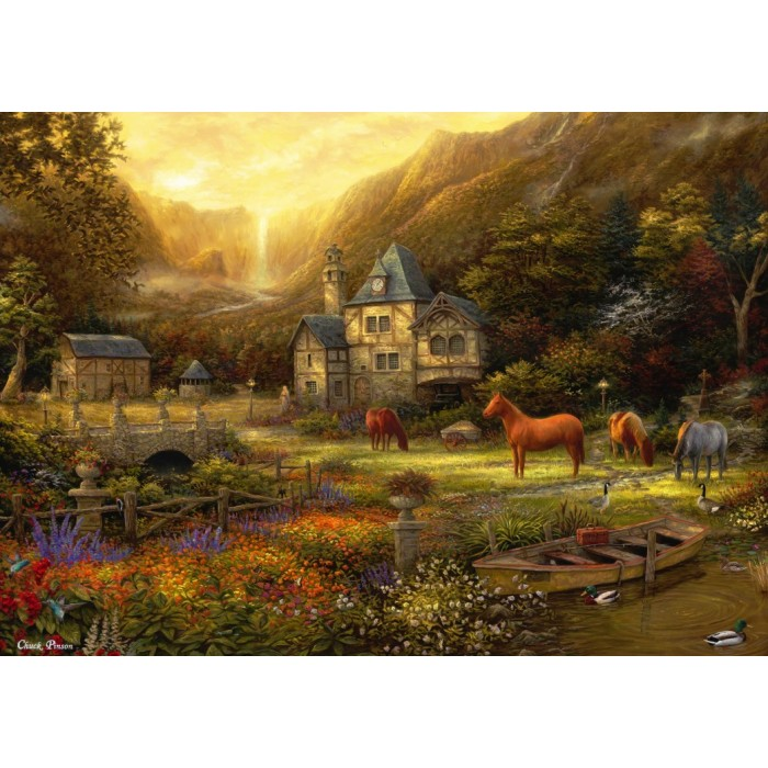 Puzzle Grafika-T-00821 Chuck Pinson - The Golden Valley