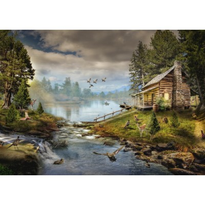 Puzzle  Grafika-T-00873 The Fisherman's Cabin