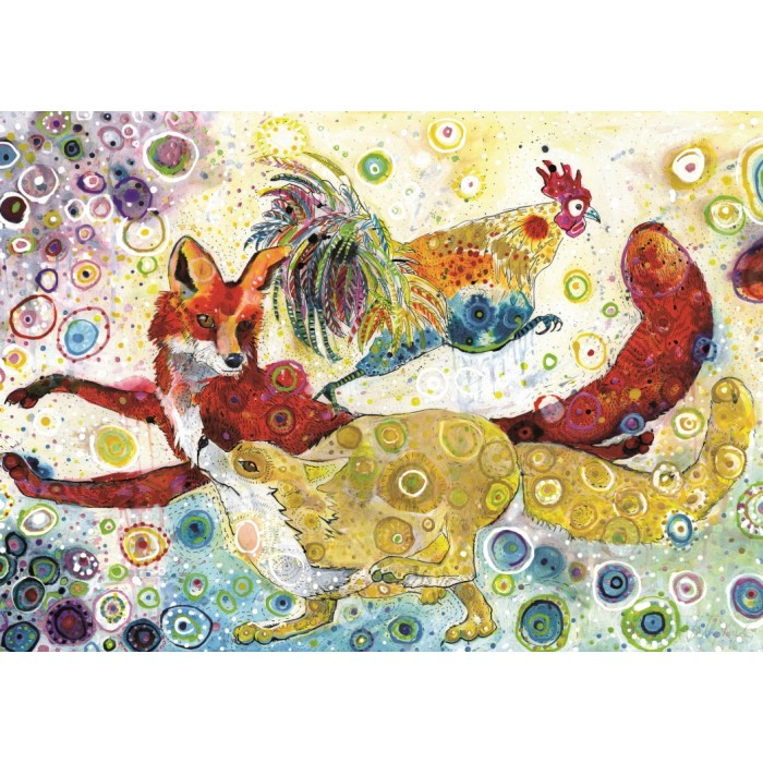 Puzzle Grafika-T-00879 Sally Rich - Leaping Fox's