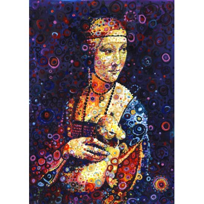 grafika-Puzzle - 500 pieces - Leonardo da Vinci: Lady with an Ermine, by Sally Rich
