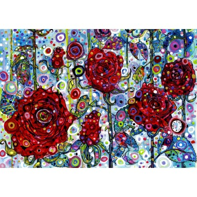 grafika-Puzzle - 1500 Teile - Sally Rich - Roses