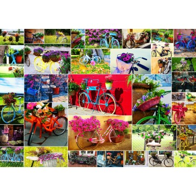Puzzle  Grafika-T-00909 Collage - Vélos