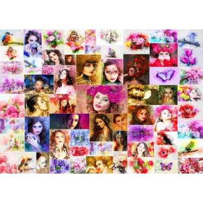 grafika-Puzzle - 1000 Teile - Collage - Frauen