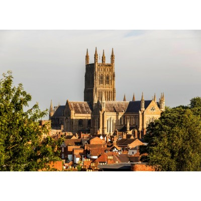 grafika-Puzzle - 1500 Teile - Worcester Cathedral viewed from Fort Royal Park
