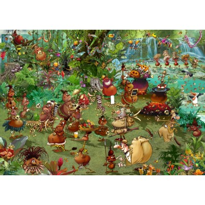grafika-Puzzle - 1000 pieces - Tribal Safari