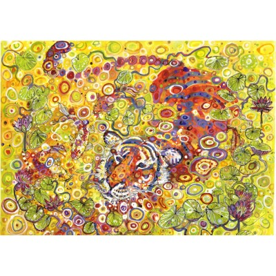 grafika-Puzzle - 1500 Teile - Swimming Tiger