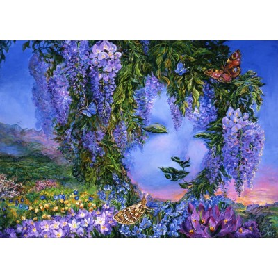 grafika-Puzzle - 1000 pieces - Mysterious Wisteria