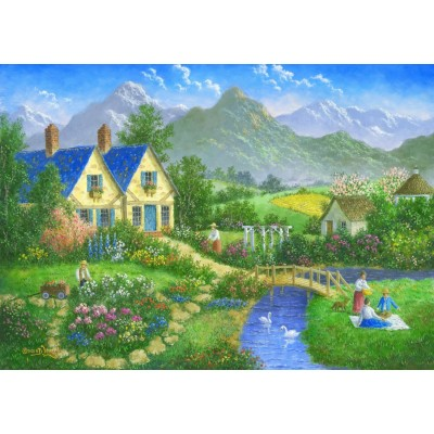 grafika-Puzzle - 1500 pieces - Having a Nice Day