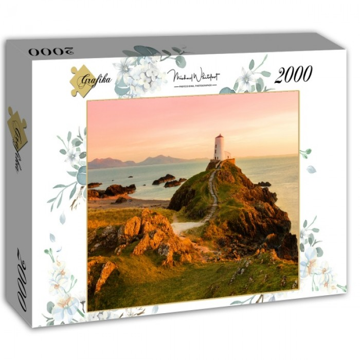 Puzzle Grafika-02936 Old lighthouse at Llanddwyn Island, Anglesey