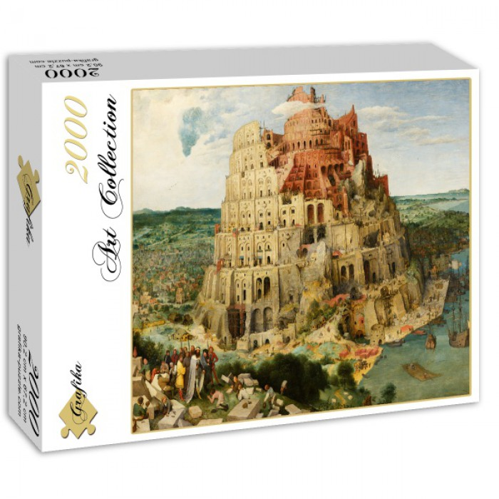Puzzle Grafika-00702 Pieter Bruegel the Elder - The Tower of Babel, 1563