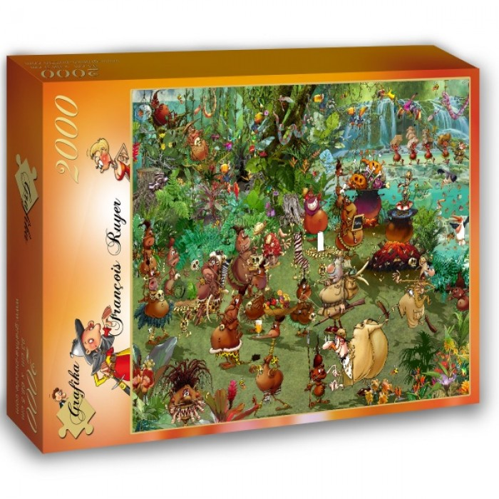 Puzzle Grafika-02967 Tribal Safari