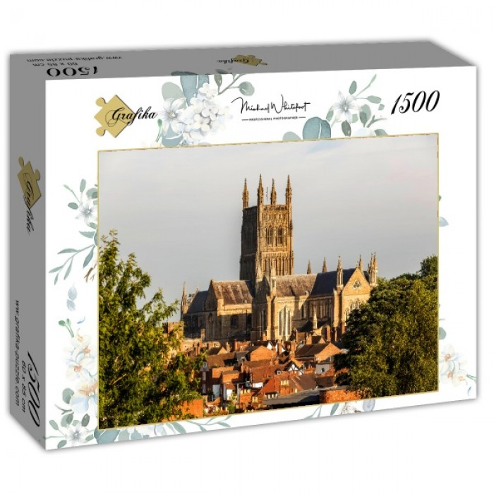 Puzzle Grafika-T-00936 Worcester Cathedral viewed from Fort Royal Park