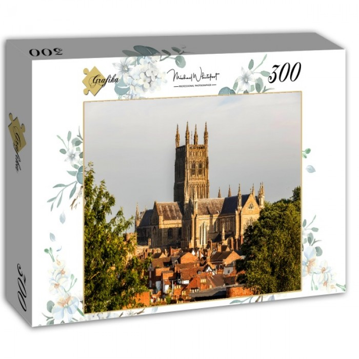 Puzzle Grafika-02965 Worcester Cathedral viewed from Fort Royal Park