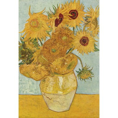 grafika-Puzzle - 12 pieces - XXL Pieces - Vincent van Gogh: Vase with 12 sunflowers, 1888