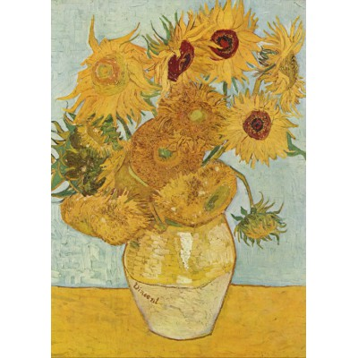 grafika-Puzzle - 24 pieces - Vincent van Gogh: Vase with 12 sunflowers, 1888