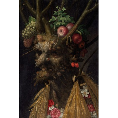 grafika-Puzzle - 100 pieces - Arcimboldo Giuseppe: Four Seasons in One Head, 1590