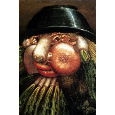 grafika-Puzzle - 100 pieces - Arcimboldo Giuseppe: The Greengrocer