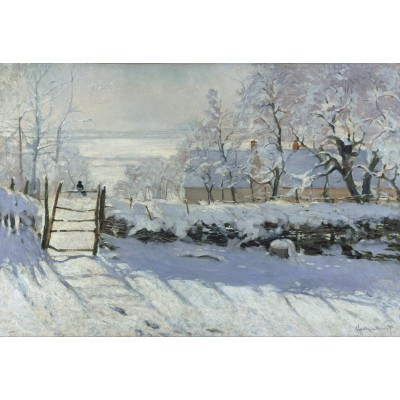 grafika-Puzzle - 12 pieces - XXL Pieces - Claude Monet : The Magpie, 1868-1869