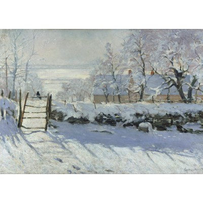 grafika-Puzzle - 24 pieces - Claude Monet : The Magpie, 1868-1869