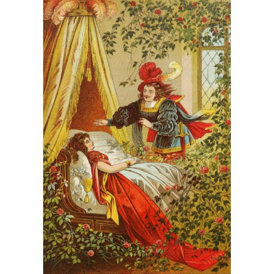 grafika-Puzzle - 12 pieces - XXL Pieces - Sleeping Beauty, illustration by Carl Offterdinger