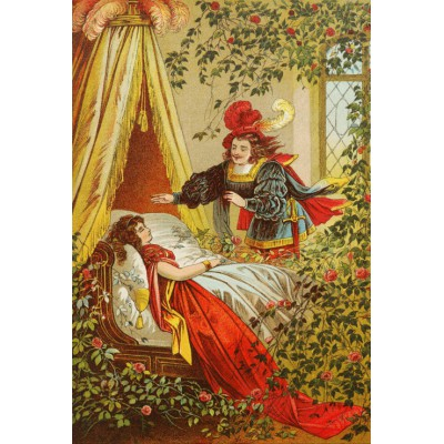 grafika-Puzzle - 100 pieces - Sleeping Beauty, illustration by Carl Offterdinger