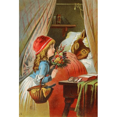 grafika-Puzzle - 100 pieces - Little Red Riding Hood, illustration by Carl Offterdinger