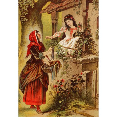 grafika-Puzzle - 12 pieces - XXL Pieces - Snow White, illustration by Carl Offterdinger