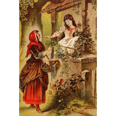 grafika-Puzzle - 100 pieces - Snow White, illustration by Carl Offterdinger