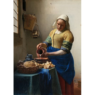 grafika-Puzzle - 24 pieces - Vermeer Johannes: The Milkmaid, 1658-1661