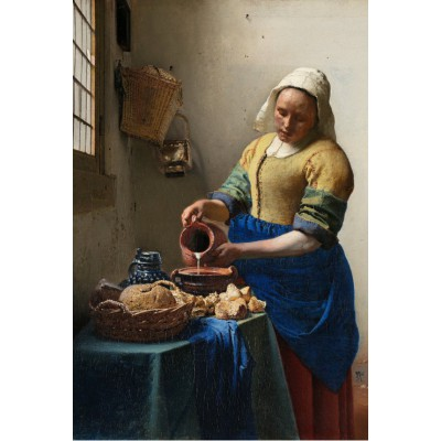 grafika-Puzzle - 100 pieces - Vermeer Johannes: The Milkmaid, 1658-1661
