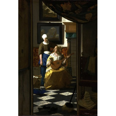 grafika-Puzzle - 12 pieces - XXL Pieces - Vermeer Johannes: The Loveletter, 1669-1670