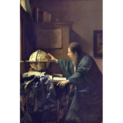 grafika-Puzzle - 100 pieces - Vermeer Johannes: The Astronomer, 1668