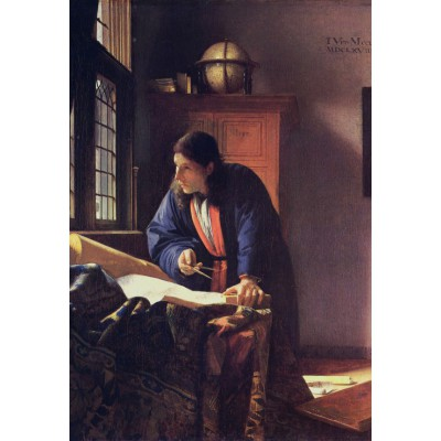 grafika-Puzzle - 12 pieces - XXL Pieces - Vermeer Johannes: The Geographer, 1668-1669