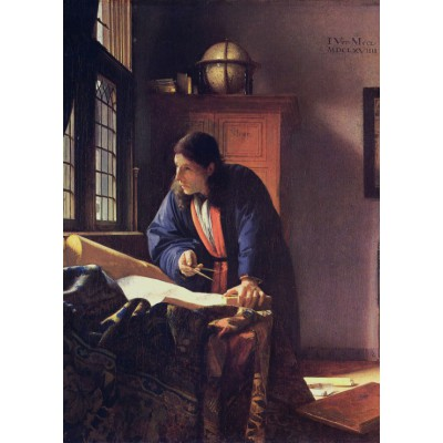 grafika-Puzzle - 24 pieces - Vermeer Johannes: The Geographer, 1668-1669