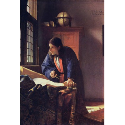 grafika-Puzzle - 100 pieces - Vermeer Johannes: The Geographer, 1668-1669